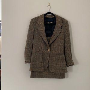 Vintage Tweed Escada Skirt Set